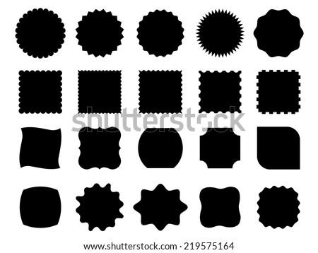 black vector shapes