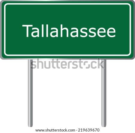 tallahassee  florida  road sign