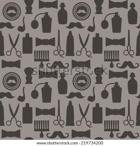 seamless pattern barbershop