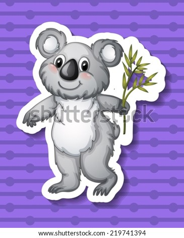 illustration of a koala with