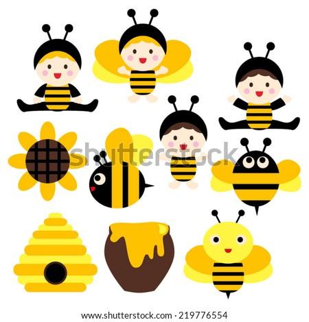 cute babies in bee costumes