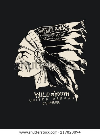 indian chief wearing