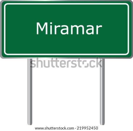miramar  florida  road sign