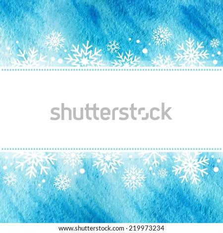 winter watercolor illustration