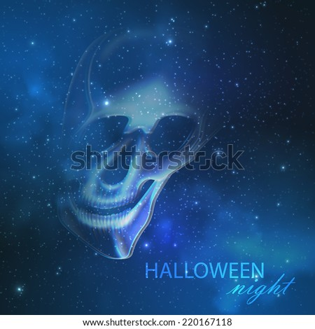 spooky vector illustration with