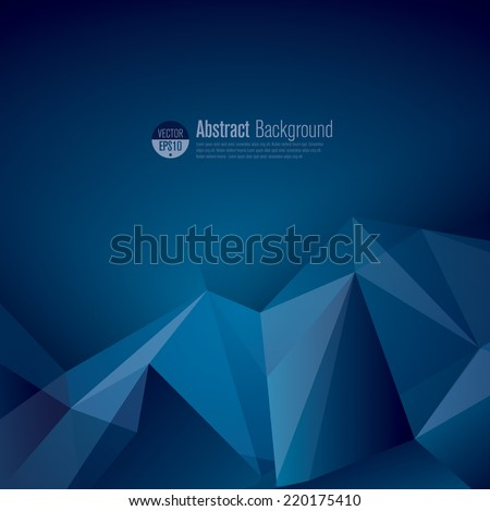 dark blue polygonal vector