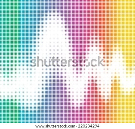 colorful square mosaic and