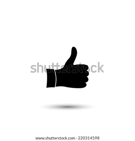thumb up icon   black vector
