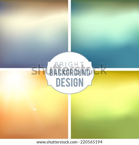 4 blur background set sepia