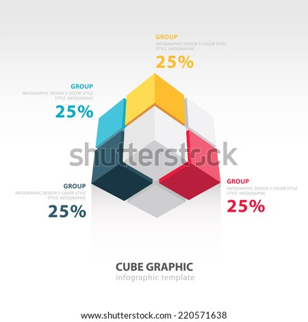 cube infographic template