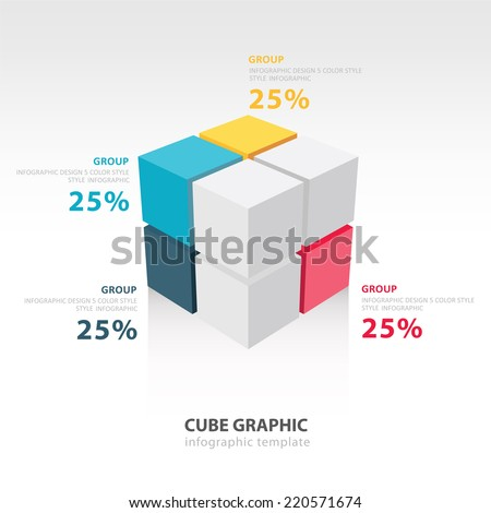 cube infographic template 4