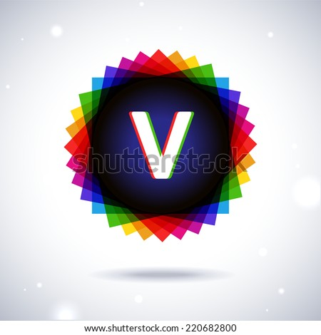 spectrum logo icon letter v