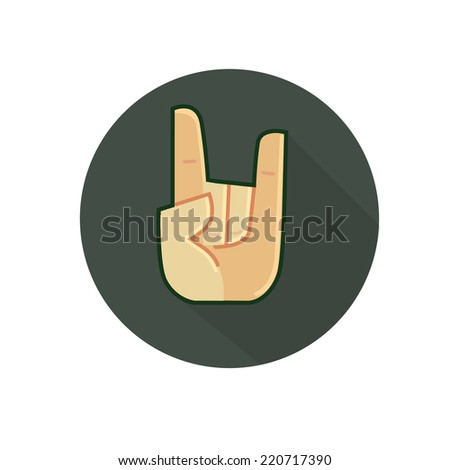 arm symbol rock and roll style