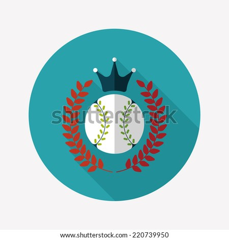 baseball champion flat icon