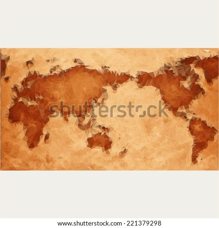 map of the world  with abstract