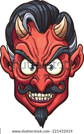 evil devil face vector clip