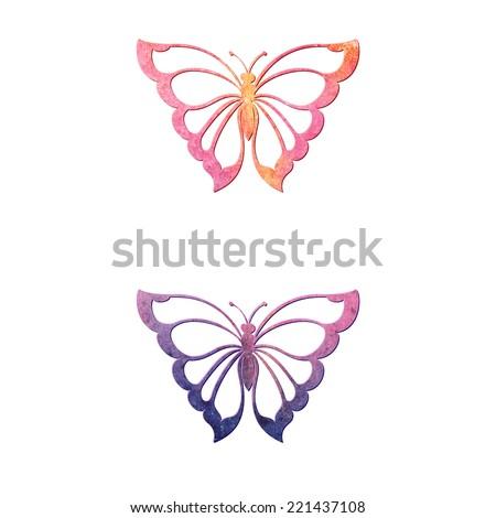 vector abstract butterflies