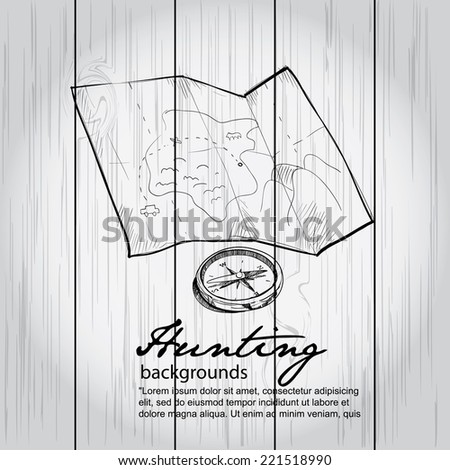 hunting background   vector