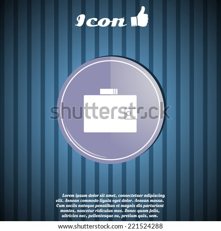 purse icon in the button made