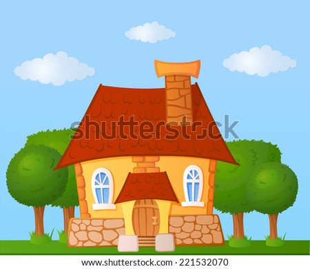 fairy little cute house with