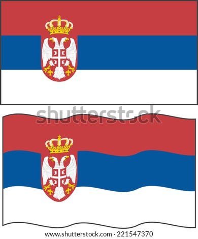 flat and waving serbian flag