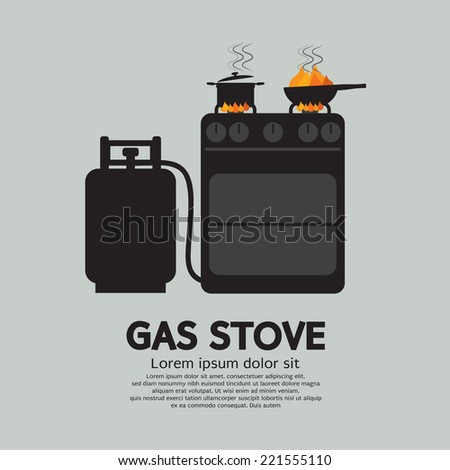 two stoves with gas vector