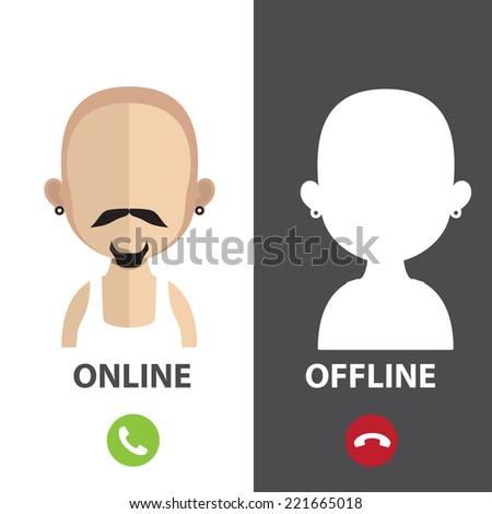 profile avatar  ofline online