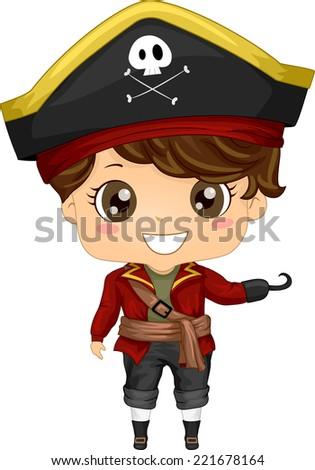 illustration featuring a boy