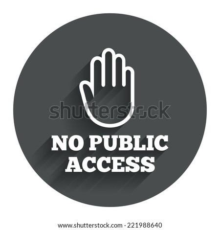 no public access sign icon