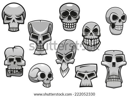 cartoon human scary halloween