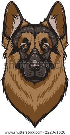 vector german shepherd dog