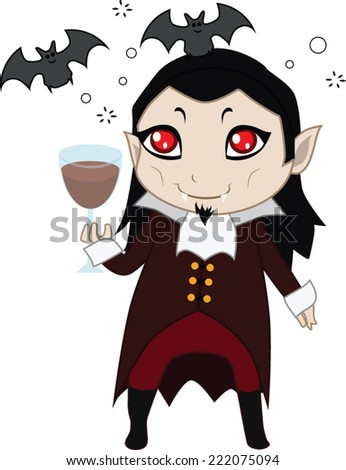 vampire halloween monster mascot