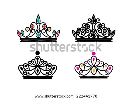 elegant crowns vector