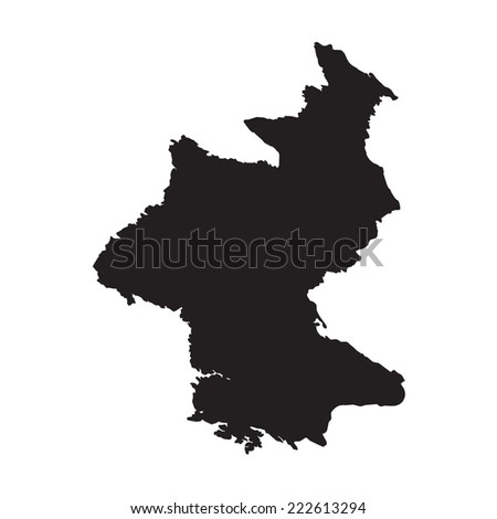 silhouette of the country north