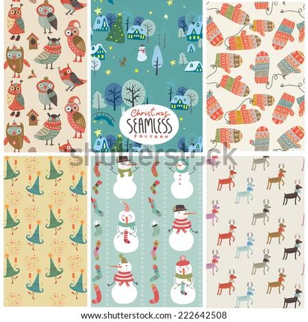 holiday seamless patterns new