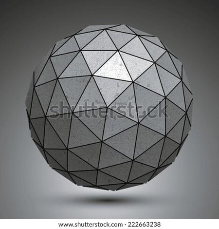 metal spherical 3d object