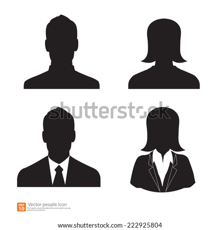 set of vector man and woman