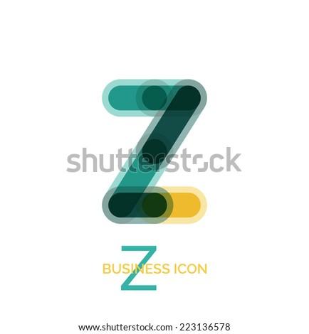 minimal line font design