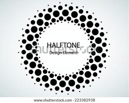 black abstract halftone logo