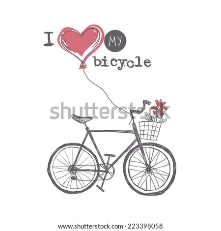 i love my bicycle  eps 10