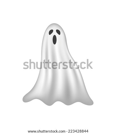ghost in white design