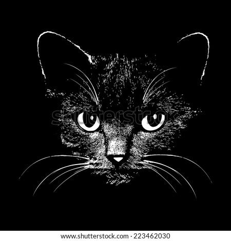 cat head vector animal
