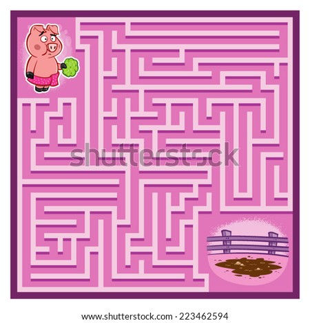 pig's maze game  help the