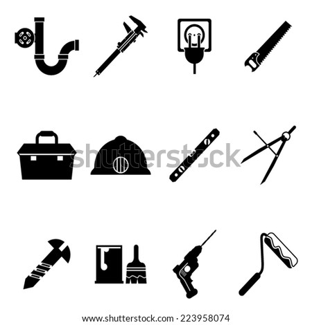 building equipment icons and