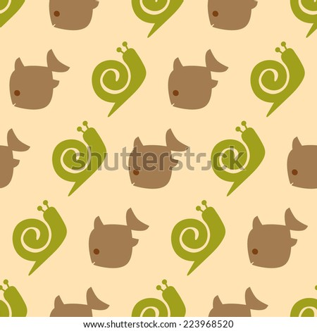 seamless background with pets