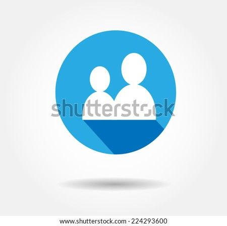 user flat icon vector