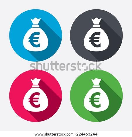 money bag sign icon euro eur