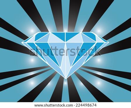 illustration  blue diamond