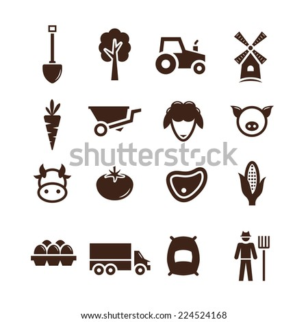 stock vector farm pictogram