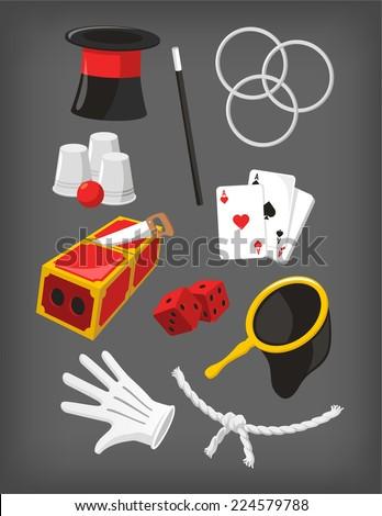 magic icon set  with magic top